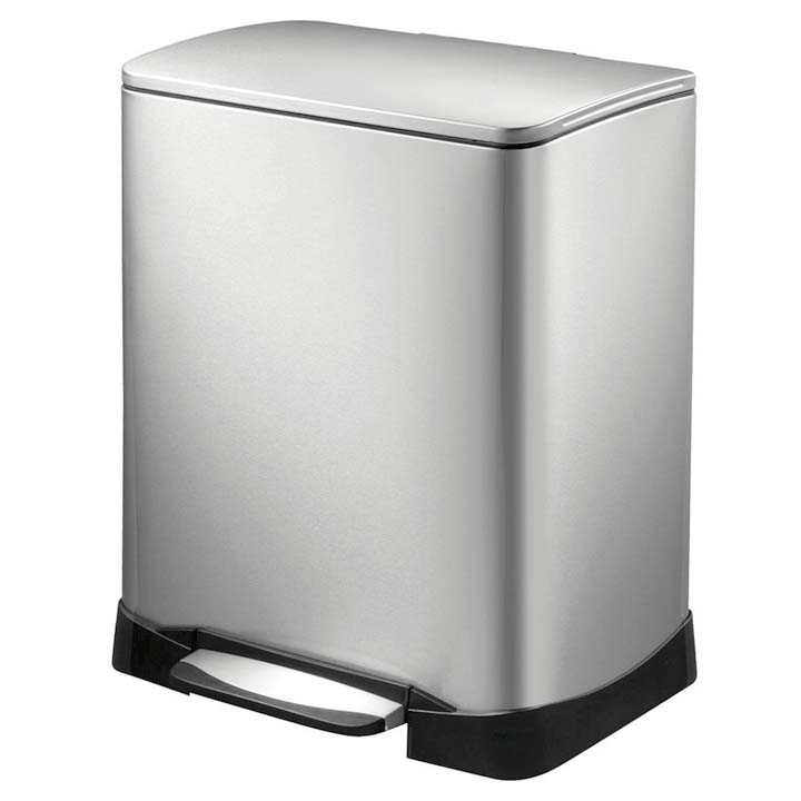 ネオキューブ ステップビン28L+18L シルバー EK9298MT-28L+18L送料無料 ゴミ箱 ごみ箱 ステンレス シンプル EKOJAPAN 【D】