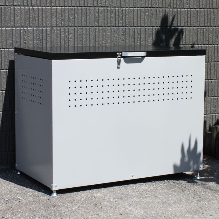 ダストボックス 90 グレー/ブラック DB-90送料無料 ゴミ箱 ストッカー 屋外 家庭用 大型 ダイマツ 【TD】 【代引不可】