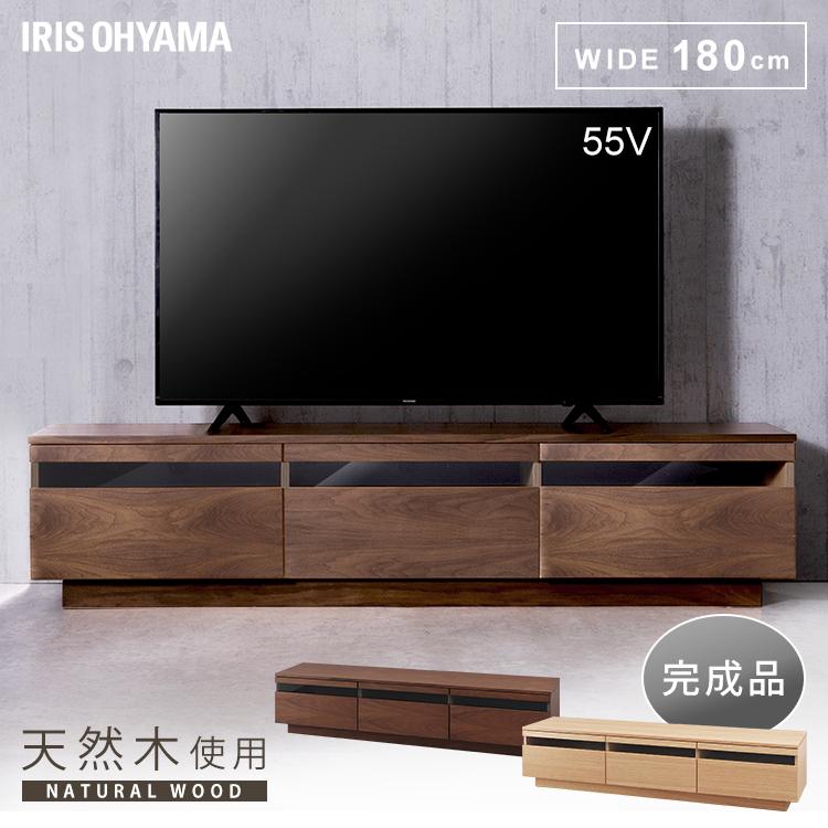ボックステレビ台 アッパータイプ BTS-GD180U-WN ウォールナット送料無料 テレビボード TV台 棚 ローボード AVボード 完成品 おしゃれ アイリスオーヤマ