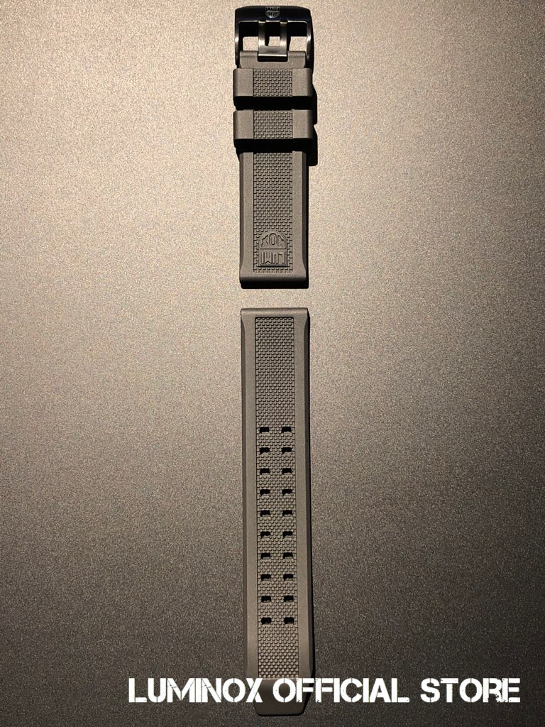 Luminox直営店 Strap Rubber-07(Blackbuckle) [ルミノックスストラップ/天然ラバー/ベルト/23mm専用]