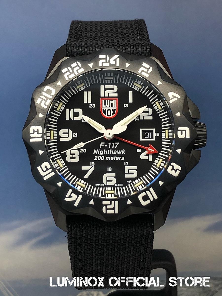 Luminox直営店 F-117 NIGHTHAWK 6420 SERIES Ref.6421[6420シリーズ/Air/F-117/ナイトホーク/GMT/ロッキードマーティン/パイロットウォッチ/ルミノックス/ミリタリーウォッチ/防水/発光/日本正規保証]