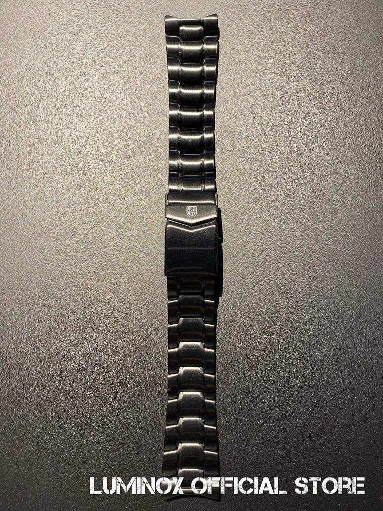 Luminox直営店 Strap Steel-05/PVD [ルミノックスストラップ/3400シリーズ用/ナイトホーク/ステンレススティール/ベルト/22mm]