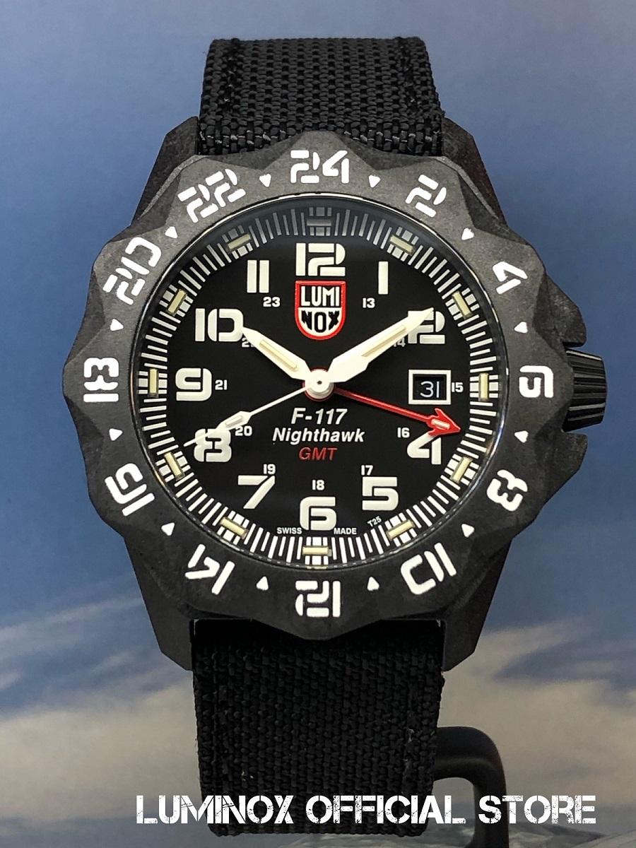 Luminox直営店 F-117 NIGHTHAWK 6440 SERIES Ref.6441[6440シリーズ/Air/F-117/ナイトホーク/GMT/ロッキードマーティン/パイロットウォッチ/ルミノックス/ミリタリーウォッチ/防水/発光/日本正規保証]