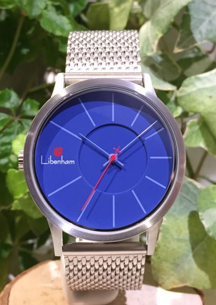 Libenham公式 Libenham Landschaft LH90036 Blue Sky in the Lake【湖畔に映る青空】[リベンハム/ラントシャフト/自動巻き/メッシュベルト/日本正規保証]