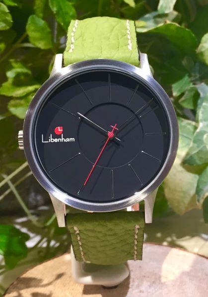 Libenham公式 Libenham Landschaft LH90036-02 Leather-06(Green)[ブラック/夜の暗闇/リベンハム/ラントシャフト/自動巻き/レザーベルト/日本正規保証]