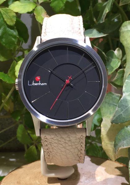 Libenham公式 Libenham Landschaft LH90036-02 Leather-06(L-Beige)[ブラック/夜の暗闇/リベンハム/ラントシャフト/自動巻き/レザーベルト/日本正規保証]