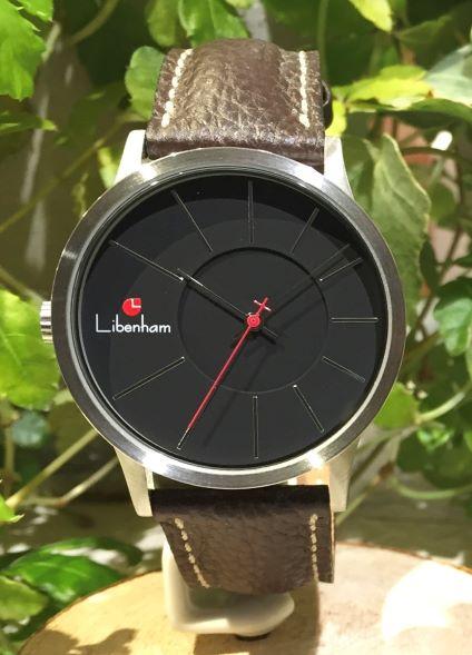 Libenham公式 Libenham Landschaft LH90036-02 Leather-06(D-Brown)[ブラック/夜の暗闇/リベンハム/ラントシャフト/自動巻き/レザーベルト/日本正規保証]