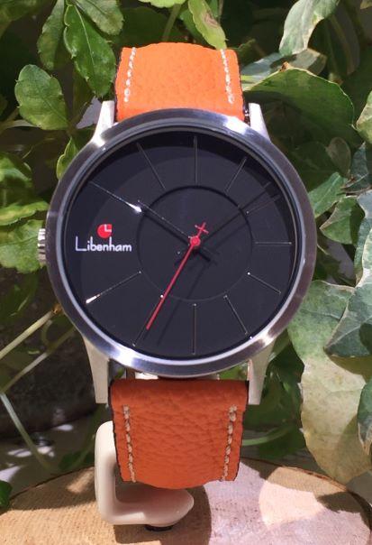 Libenham公式 Libenham Landschaft LH90036-02 Leather-06(Orange)[ブラック/夜の暗闇/リベンハム/ラントシャフト/自動巻き/レザーベルト/日本正規保証]