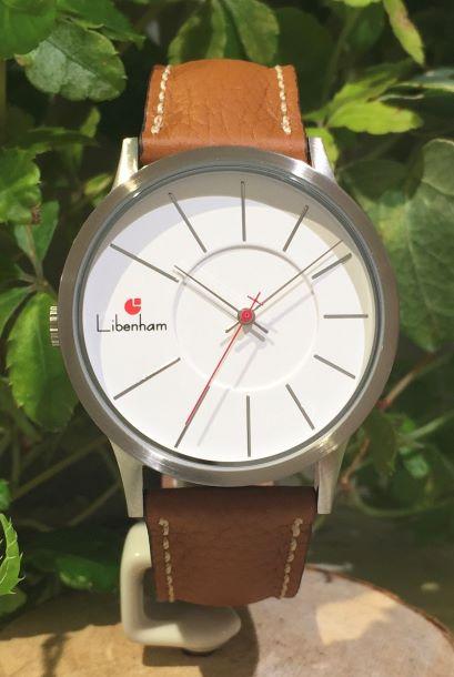 Libenham公式 Libenham Landschaft LH90036-04 Leather-06(L-Brown)[ホワイト/白雪/リベンハム/ラントシャフト/自動巻き/レザーベルト/日本正規保証]