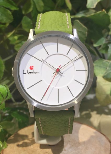 Libenham公式 Libenham Landschaft LH90036-06 Leather-06(Green)[グリーン/草原の緑/リベンハム/ラントシャフト/自動巻き/レザーベルト/日本正規保証]