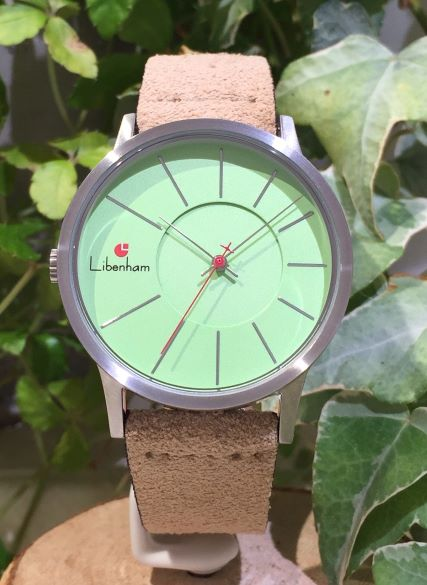 Libenham公式 Libenham Landschaft LH90036-06 Leather(S)05(Beige)[グリーン/草原の緑/リベンハム/ラントシャフト/自動巻き/レザーベルト/日本正規保証]