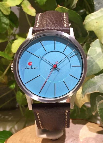Libenham公式 Libenham Landschaft LH90036-08 Leather-06(D-Brown)[ブルー/青空/リベンハム/ラントシャフト/自動巻き/レザーベルト/日本正規保証]