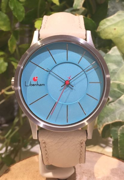 Libenham公式 Libenham Landschaft LH90036-08 Leather-06(L-Beige)[ブルー/青空/リベンハム/ラントシャフト/自動巻き/レザーベルト/日本正規保証]