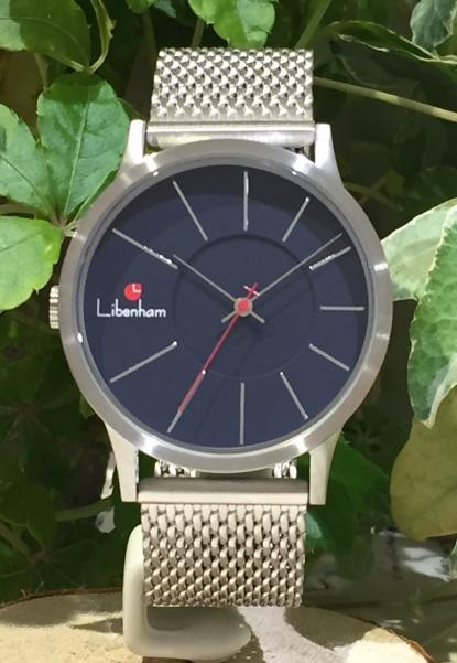 Libenham公式 Libenham Landschaft LH90036-24 Deep Blue Lake【紺碧の湖】[ネイビー/リベンハム/ラントシャフト/自動巻き/メッシュベルト/日本正規保証]