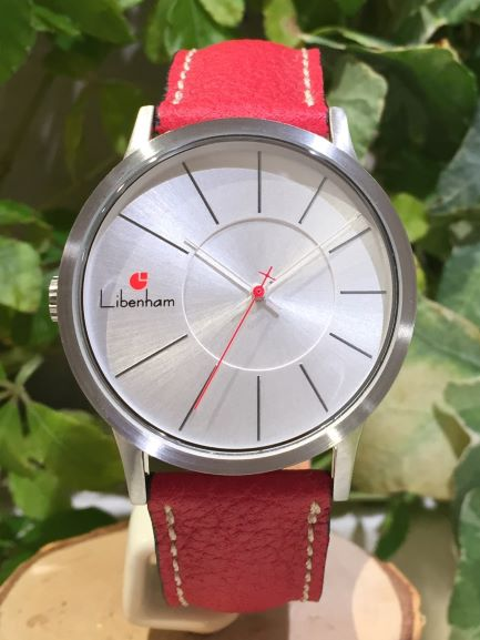 Libenham公式 Libenham Landschaft LH90036-31(L-06/RED) Glitter of Fallen Snow【降り積もる雪の輝き】[リベンハム/ラントシャフト/自動巻き/レザーベルト/日本正規保証]