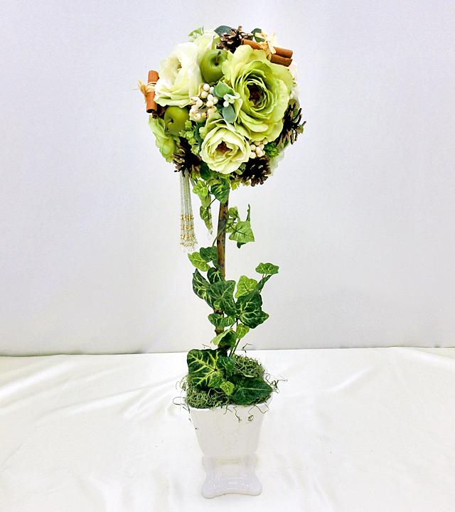 【薔薇と実のトピアリー】アーティフィシャルフラワー「造花」光触媒コーティング「送料・代引き手数料無料」
