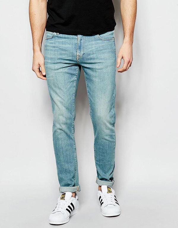 エイソス ASOS メンズ ジーンズ デニムジーパン スキニージーンズ:ASOS Skinny Jeans In Light Wash