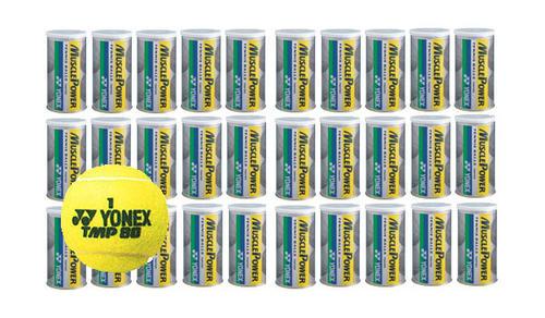 【送料無料】YONEX(ヨネックス) 硬式テニスボールマッスル パワー トーナメント(2個入り缶)×30缶セットTMP80-30SET【定番】