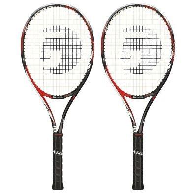 【10000円均一】【廃番】TOALSON(トアルソン)GAMMA RZR100Tテニスラケット 2本セットハードヒッターモデルフレームのみグリップサイズ21DR79522-2SET【15☆】●●