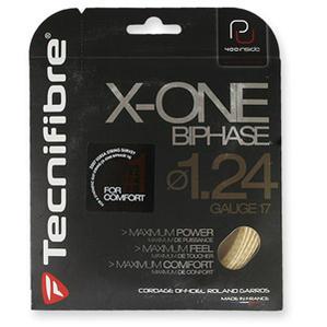 【送料無料】【よりどり4張りでお買い得】Tecnifibre(テクニファイバー)X-ONE BIPHASE 1.24(エックスワン バイフェイズ)TFGX01