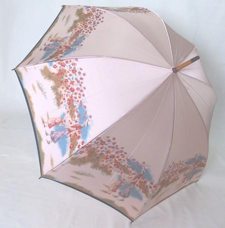【15000円均一】【送料無料】レディース・ウィメンズ日本製 高級傘 ほぐし織り 花柄手開き傘 58cmピンク5551617-PK【17★】【雨傘】【婦人傘】