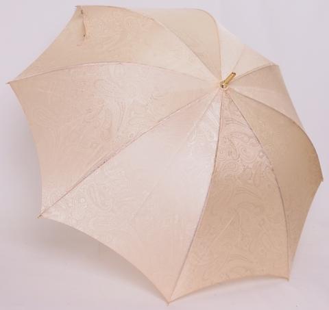 【15000円均一】【よりどり3個で送料無料】レディース・ウィメンズ【日本製】 晴雨兼用絹ジャガード ペイズリー50cm 手開き傘ベージュ5653437-BE【18☆】【婦人傘】【晴雨兼用傘】