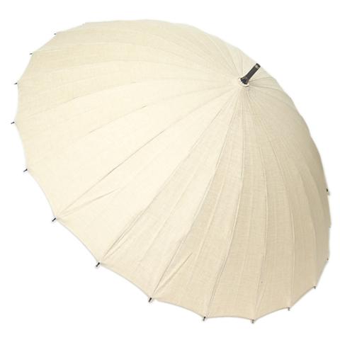 【送料無料】【18000円均一】日本製晴雨兼用 三河木綿無地50cm 手開き傘ベージュ28-6545-BE【18★】【雨傘】【婦人傘】【日傘】