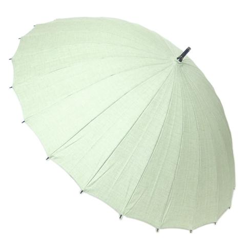【送料無料】【18000円均一】日本製晴雨兼用 三河木綿無地50cm 手開き傘グリーン28-6545-GR【18★】【雨傘】【婦人傘】【日傘】