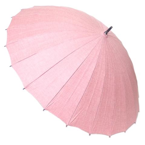 【送料無料】【18000円均一】日本製晴雨兼用 三河木綿無地50cm 手開き傘赤28-6545-RD【18★】【雨傘】【婦人傘】【日傘】
