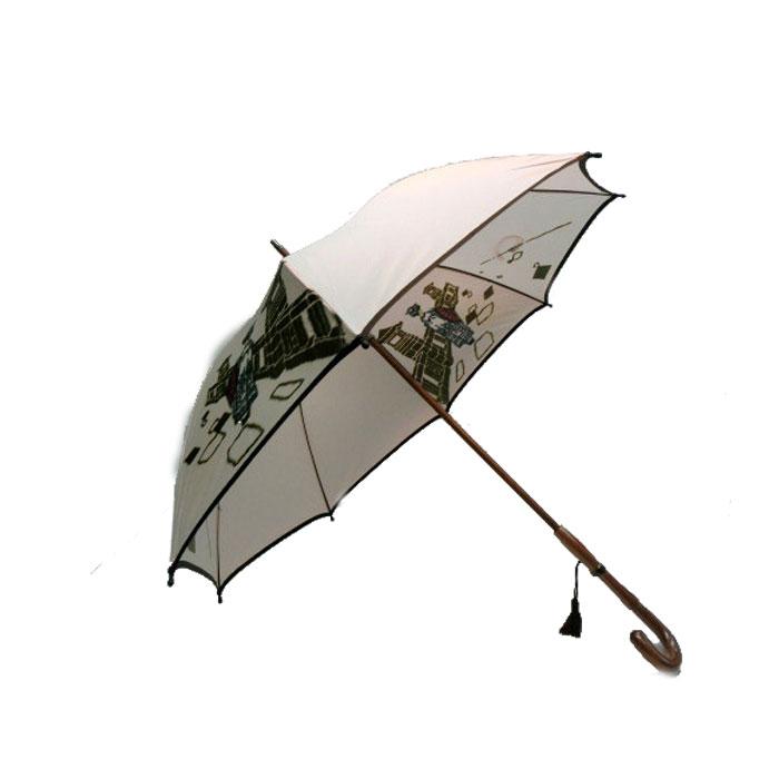 (雨傘)(婦人傘)レディース・ウィメンズ日本製 甲州産ほぐし織り 紫外線防止加工付手開き傘 58cmピンク2882213(16☆)