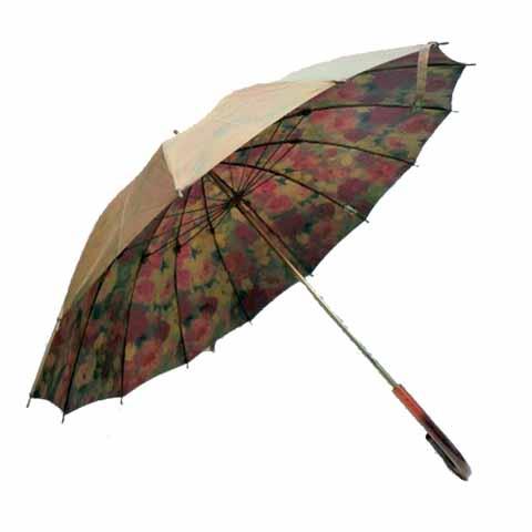 【日本製】【送料無料】レディース・ウィメンズ玉虫裏花柄転写プリント14本骨55cm 手開き傘ベージュ200233-120-11-BE【17☆】【雨傘】【婦人傘】