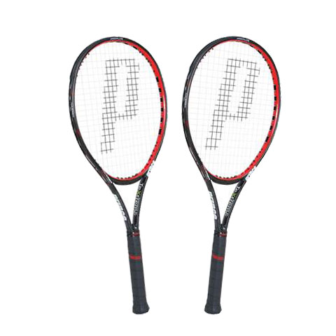 【送料無料】prince(プリンス) HARRIER 100 XR-J硬式テニスラケット2本セット 張上げ済7T40G【17★】●●