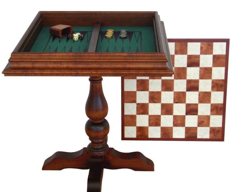 イタリア製オルモ-モザイク ウッドチェステーブル【アンティーク加工】tav450