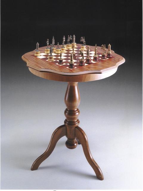イタリア製ウッドチェスボード・ティーテーブルtav90 イタリア製ティーテーブル イタリア製家具【定番】