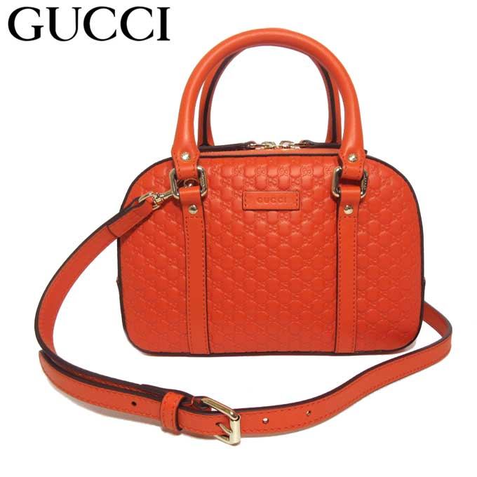 Gucci outlet GUCCI handbag 510289 leather 2WAY mini,Boston bag micro GG  pattern orange system