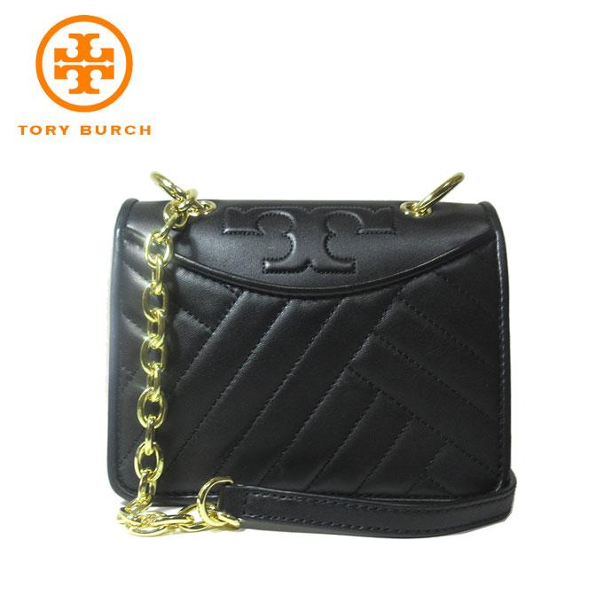 トリーバーチ アウトレット TORY BURCH ショルダーバッグ 50646-0718-001 ALEXA MINI / SHOULDER BAG レザー ミニ ショルダー / ポシェット BLACK/001:ブラック【カード分割】【レディース】