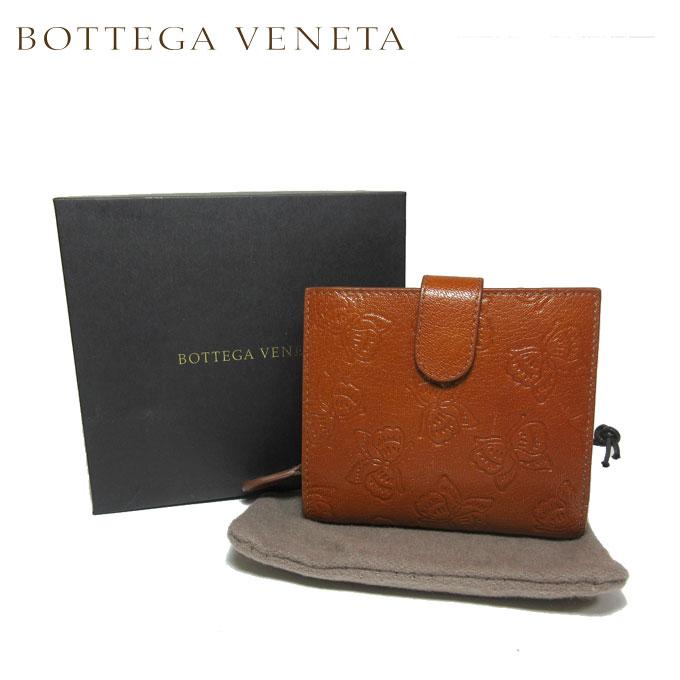 ボッテガヴェネタ BOTTEGA VENETA 121059-VALR1-2580 レザー バタフライ 両開き財布 ブラウン系【カード分割】【レザー】【レディース】