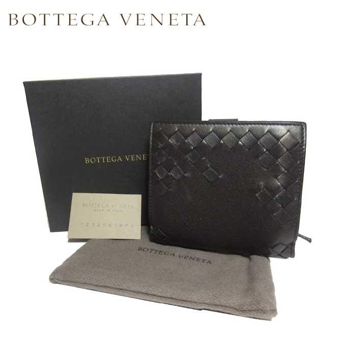 ボッテガヴェネタ BOTTEGA VENETA 121059-VCK81-2073 イントレチャート レザー 両開き財布 ダークブロンズ系【カード分割】【レザー】【レディース】