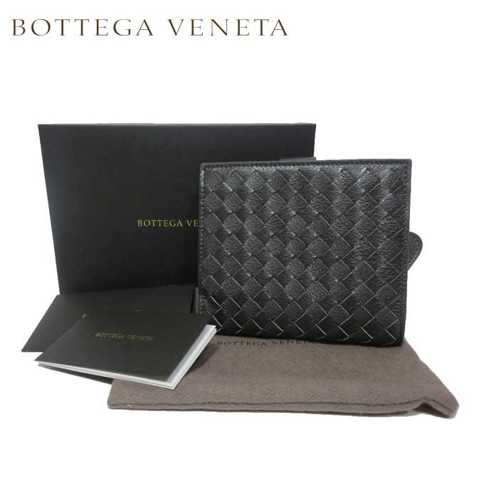 ボッテガヴェネタ BOTTEGA VENETA 132355-VCKT1-2015 イントレチャート レザー 両開き財布 ダークグレー系【カード分割】【レザー】【レディース】【メンズ】