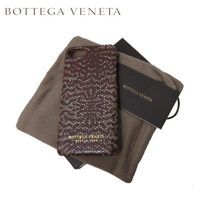 ボッテガヴェネタ BOTTEGA VENETA モバイルアクセサリー 496541-VCL13-6348 パイソンレザー iPhone 7 対応 ケース レッド系マルチ【カード分割】【レディース】