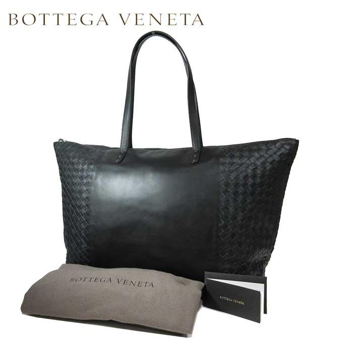 イントレチャート トートバッグ ブラック【カード分割】【レディース】 VENETA 522870-VQ124-1000 レザー ボッテガヴェネタ BOTTEGA