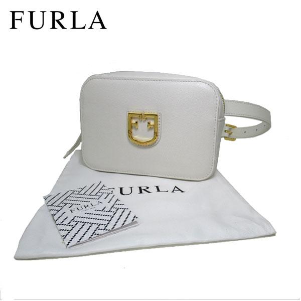 フルラ FURLA ブティック ショルダーバッグ 1014217 レザー ウエストポーチ / ベルトバッグ FURLA BELVEDERE / CHALK【レディース】