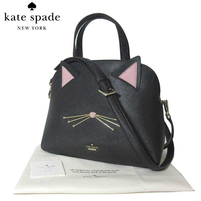 ケイト・スペード ブティック kate spade ハンドバッグ PXRU8519 レザー cat lottie / cat's meow キャット / ネコ ショルダー付き 2WAY ハンドバッグ black(001):ブラック【カード分割】【レディース】