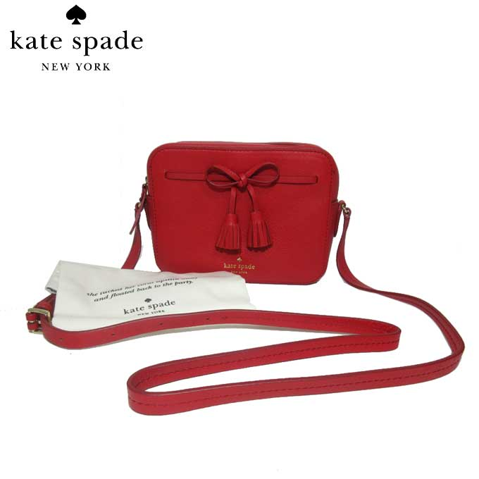 ケイト・スペード ブティック kate spade ショルダーバッグ PXRU9166 タッセル リボン レザー 斜め掛け hayes street hb / arla / royal red(604):レッド系【カード分割】【レディース】