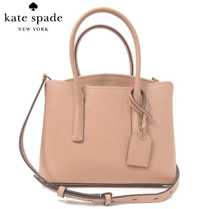 ケイトスペード ブティック kate spade ハンドバッグ PXRUA161-102 レザー 2WAY ハンドバッグ margaux medium satchel / lightfawn(102):ライトブラウン系【レディース】