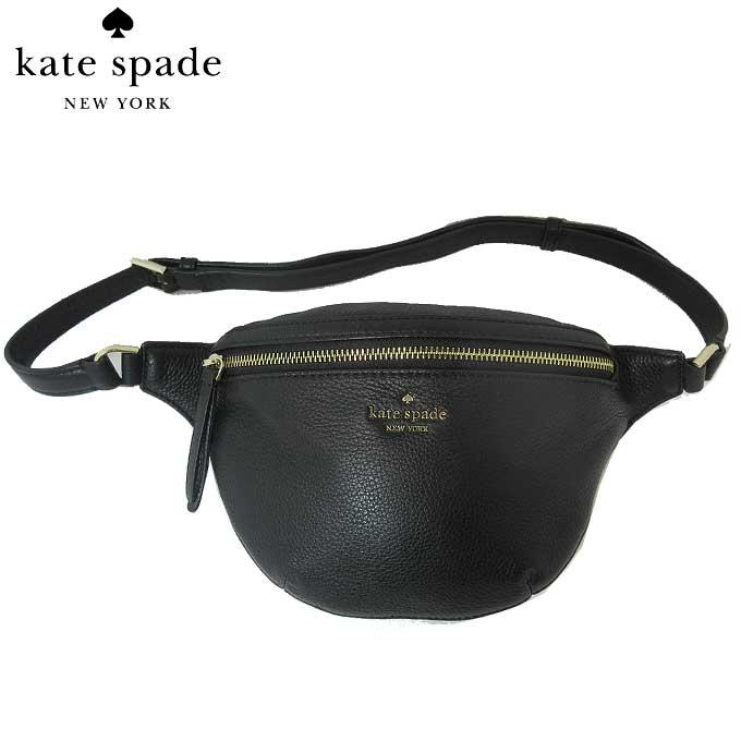 ケイト・スペード アウトレット kate spade ショルダーバッグ WKRU5943-001 レザー ベルトバッグ / ウエストポーチ belt bag / jackson / black(001):ブラック【カード分割】【レディース】