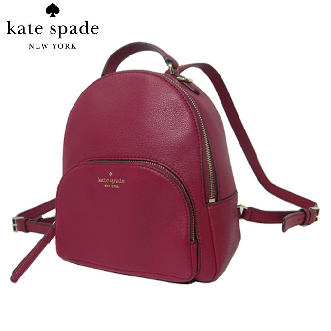 ケイト・スペード アウトレット kate spade ショルダーバッグ WKRU5946-616 レザー ミディアム バックパック / リュック medium backpack / jackson / crnbrycktl(616):クランベリー【カード分割】【レディース】