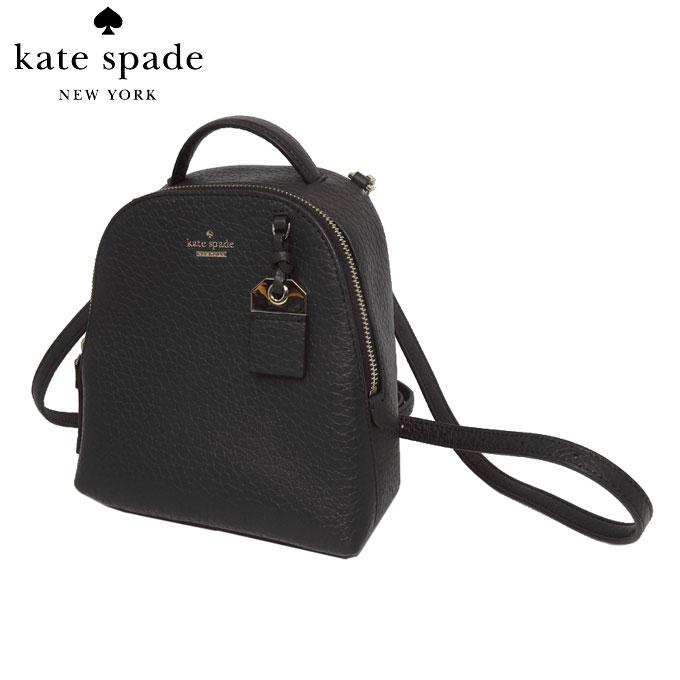 ケイトスペード アウトレット kate spade ショルダーバッグ WKRU5989-001 mini caden / carter レザー 2WAY ミニ リュック black(001):ブラック 【レディース】