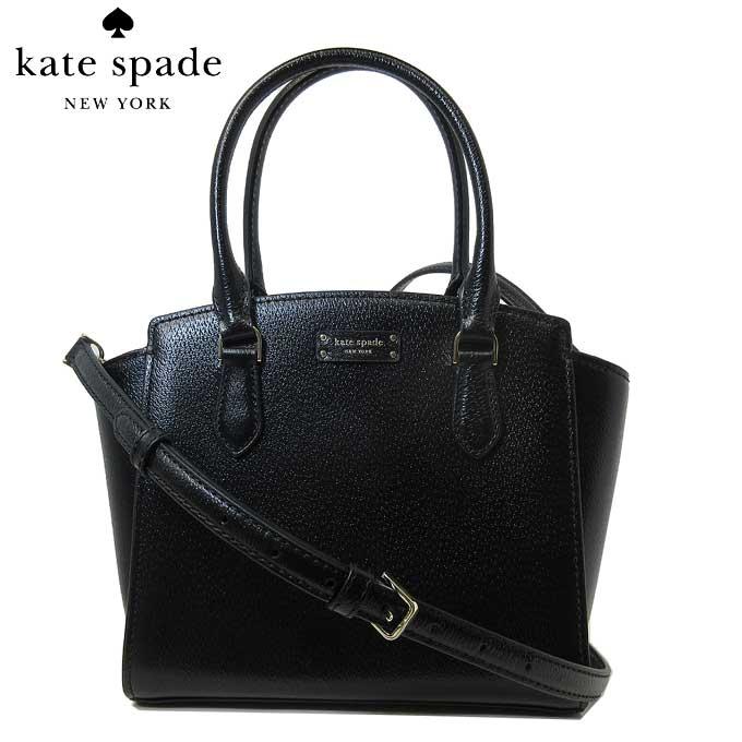 ケイト・スペード アウトレット kate spade ハンドバッグ WKRU6044-001 jeanne / small satchel レザー ストラップ付 斜め掛け 2WAY ハンドバッグ black(001):ブラック【カード分割】【レディース】