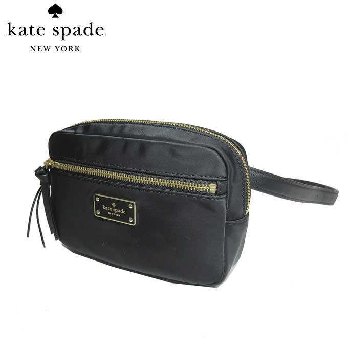 ケイト・スペード アウトレット kate spade ショルダーバッグ WKRU5283-001 ナイロン ウエストポーチ sophy / wilson road / black(001):ブラック【カード分割】【レディース】